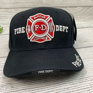 NEW Fire Department Black Adjustable Hat